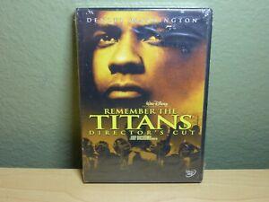 Remember the Titans Director's Cut (DVD, 2000) Walt Disney Denzel Washington New