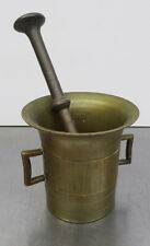 Antiker schwerer Bronze Mörser mit Pistill - Apotheker Gefäß mit Stößel