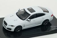 Jaguar XFR in Polaris White, official Jaguar dealer model, IXO 1:43 scale