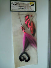 Jones Baits Spinner muskie model Sb-3,color 01 pink/bl. 1.5 oz. Nib Muskie