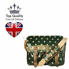 Oilcloth Cross Body Polka Dots Patterned School Satchel Saddle Bag Shoulder UK