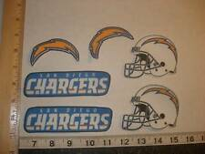6 San Diego Chargers Fabric Applique Iron On Ons
