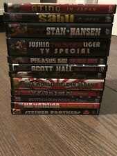 Wrestling DVD LOT Japan Flair Vader Sting Bulldogs Steiners WWE WWF ECW NJPW ROH