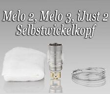 Melo 2, Melo 3, iJust 2 Selbstwickelverdampferkopf Set (wiederverwendbar)