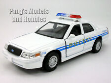 Ford Crown Victoria Police Interceptor 1/42 Scale Diecast Model - WHITE