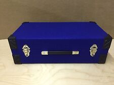 "7"" inch Record Vinyl Singles Case Box retro blue Storage Holds 300"