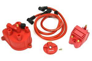 VMS DISTRIBUTOR CAP ROTOR EXTERNAL COIL FOR 96-00 HONDA CIVIC SOHC D16