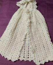 hand crochet white snowflake cape fits 6/12 months