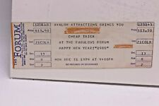 CHEAP TRICK THE FORUM NEW YEARS EVE 1978 TICKET