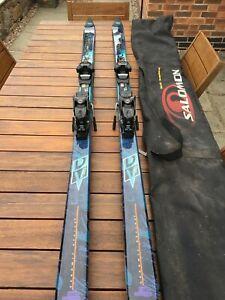 Salomon skis with bindings and carry bag. Never used