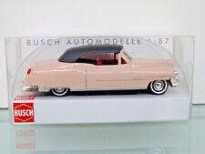 Busch 43421 - H0 1:87 - Cadillac '52 Cabrio,Cerrado »Rosado« - Nuevo en Emb.