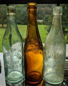 3 Vint Wacker Birk Northwestern Mutual Brewing beer bottles Chicago Illinois IL