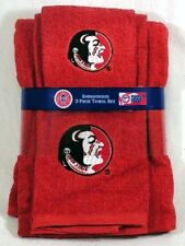 Florida State Fsu Seminoles 3 Pc Embroidered Bath Towel Gift Set Free Us Ship