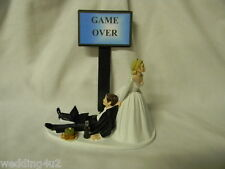 Wedding Party Reception Game Over ~Chips & Dip~  Cola Bottle Laptop Cake Topper