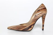 Stuart Weitzman Lady Zinger Beige Tweed Snake Pointed Toe High Heels Sz 10N 3281