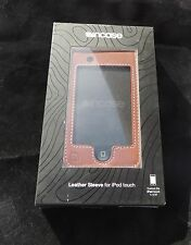 INCASE BROWN BLUE LEATHER COVER CASE PROTECTOR IPOD TOUCH 1G BELT 1ST GEN ONLY