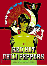 RED HOT CHILI PEPPERS WESTON PARK GIG POSTER S/N ED LTD