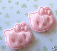 """80pcs x 3/4"""" Small Cute Padded Felt Kitty Cat Appliques for Card/Hello ST54P"""