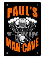 Personalized Man Cave Sign Printed with YOUR NAME.Custom High Gloss Aluminum