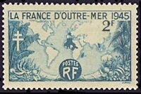 "FRANCE TIMBRE STAMP N°741 ""LA FRANCE D'OUTRE-MER 1945"" NEUF X TB"