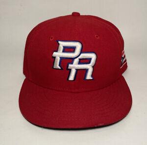 World Baseball Classic PR Puerto Rico New ERA Fitted 59Fifty Hat Sz. 7 1/4 Cap
