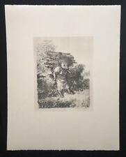 A. Paul Weber, Holzsammlerin, aus dem Nachlass, Lithographie, 1980, Signatur
