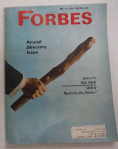 Forbes Magazine Annual Directory Nixon's Big Stick May 1973 060815R2