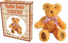 Crea la tua TEDDY BEAR PELUCHE completa 22 cm Stuffed giocattolo morbido Craft KIT per cucire