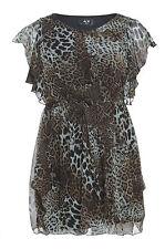 Womens Plus Size Animal Print Elasticated Dress Sizes 16-26