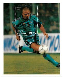 VINTAGE CLASSICS - Maldives 2293 - '98 World Cup Ronaldo Brazil - S/S - MNH