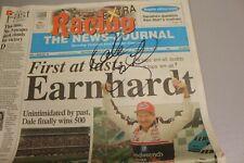 RARE DALE EARNHARDT AUTOGRAPHED 1998 DAYTONA NEWSPAPER FIRST AT LAST DAYTONA 500