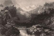 INDIAN MUTINY. Fugitive Sepoys taking refuge near Yamunotri, on the Yamuna 1858