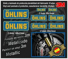 Decal Set Ohlins metallic ,stickers-pegatinas-aufkleber-autocollants-adesivi,