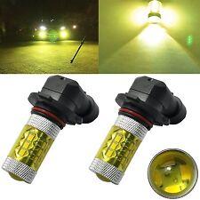 2x 4300K Yellow 9005 HB3 LED Fog Driving Light 80W SAMSUNG 2323 Projector Bulb