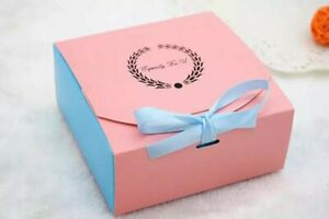 Bakery Boxes   for Cupcake Cookie Party Gift, Pink & blue , pack of 12