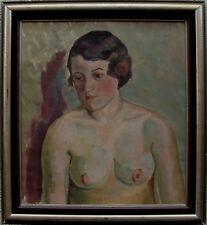 Weiblicher Halbakt, unbekannter Maler, um 1930/40