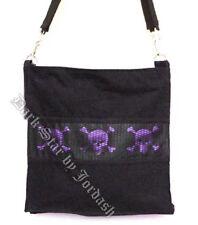 Dark Star Black and Purple Gothic Skull Book Bag