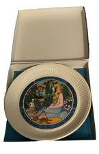 "Wedgwood 1975 Children's Stories Plate ""The Little Mermaid"" Iob + Leaflet"