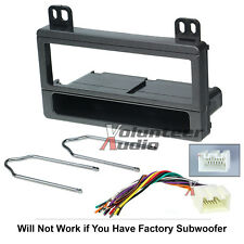 Car Stereo Radio Kit Dash Installation Mounting Kit Wiring Harness Removal Tools
