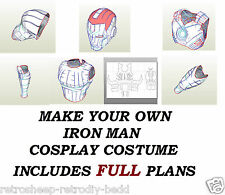 IRON MAN FULL SUIT ARMOUR BUILD PLANS COSPLAY LARP ROLEPLAY PEPAKURA PAPERCRAFT