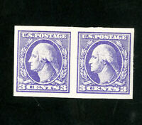 US Stamps # 535 XF Pair OG NH