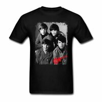 The Monkees 1966 Album Cover Graphic Band Men T Shirts Black