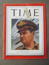 Vintage Time Magazine August 13, 1945  Lemay of the B-29's cover