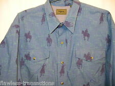 ROPER Men's XXL Western Mother Pearl Snap Cowboy Long Sleeve Shirt Size 2XL NEW