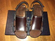 Prada Men's Brown Double Strap Leather Sandals 8.5 US (8 Prada)