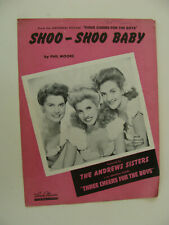 Shoo-Shoo Baby 1943 Three Cheers For the Boys Andrews Sisters by Phil Moore