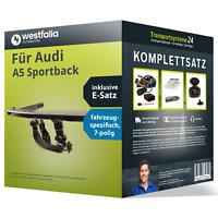 Anhängerkupplung WESTFALIA abnehmbar für AUDI A5 Sportback +E-Satz Kit NEU AHK