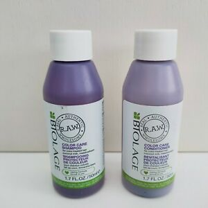 Biolage R.A.W. Color Care Shampoo and Conditioner Duo, 50mlx2, Brand New!!