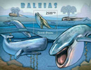 Guinea-Bissau - 2011 Whales Stamp Souvenir Sheet Michel #5705 GB11724b