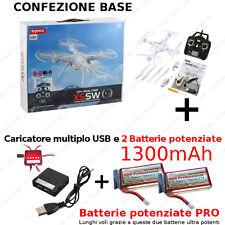 Syma X5sw-telecamera WiFi FPV 2mp Headless Mode- Drone Quadricottero Rc-nero-